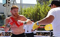 Pictures: Canelo-GGG Open Workout
