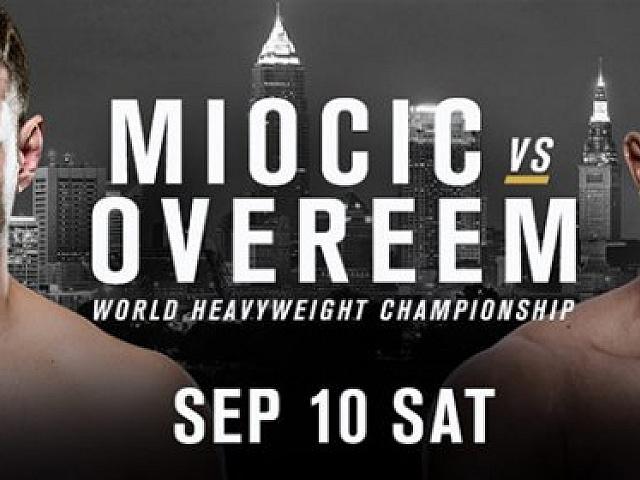 G-046 UFC 203 Miocic vs Alistair Overeem Fabric Poster 12x18 24x36 27x40