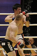 Kazushi Sakuraba (white trunks) vs. Kestutis Smirnovas